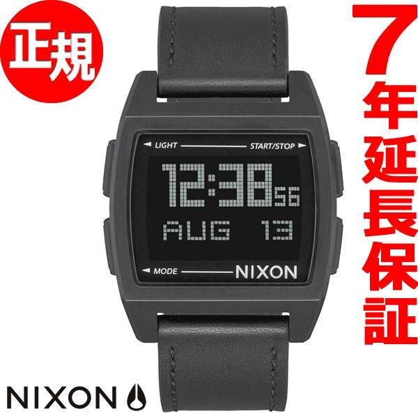 ニクソン NIXON ベース レザー BASE LEATHER 腕時計 メンズ/レディース オールブラック NA1181001-00