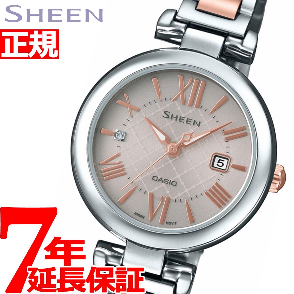 【SHOP OF THE YEAR 2018 受賞】カシオ シーン CASIO SHEEN ソーラー 腕時計 レディース SHS-4502SPG-9AJF