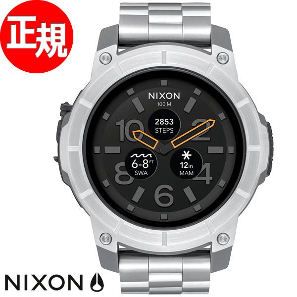 ニクソン NIXON ミッションSS MISSION SS スマートウォッチ 腕時計 メンズ/レディース シルバー NA1216130-00