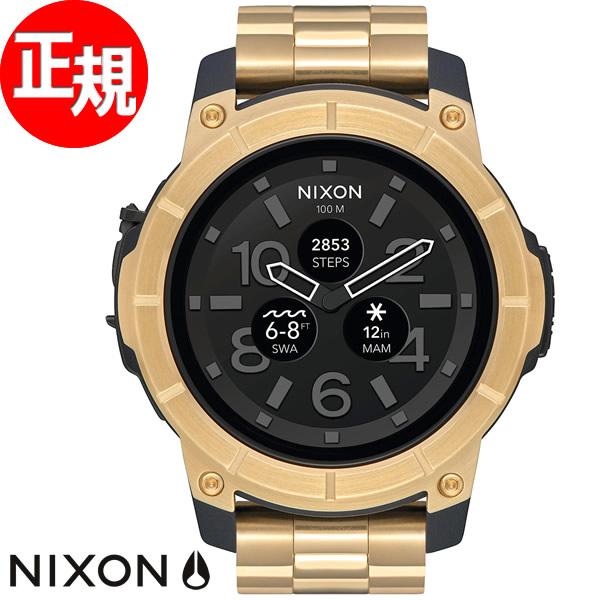 ニクソン NIXON ミッションSS MISSION SS スマートウォッチ 腕時計 メンズ/レディース ゴールド NA1216501-00