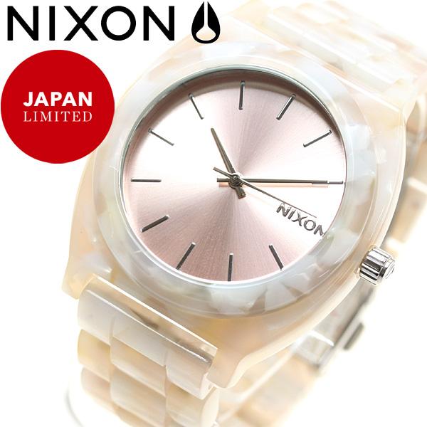 ニクソン NIXON タイムテラー アセテート TIME TELLER ACETATE 日本限定モデル 腕時計 レディース ローズゴールド/シーシェル NA3272944-00