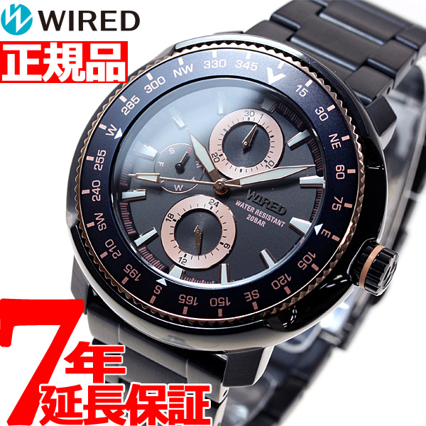 【お買い物マラソンは当店がお得♪本日20より!】セイコー ワイアード SEIKO WIRED クリスマス 限定モデル 腕時計 メンズ ソリディティ SOLIDITY クロノグラフ AGAT719