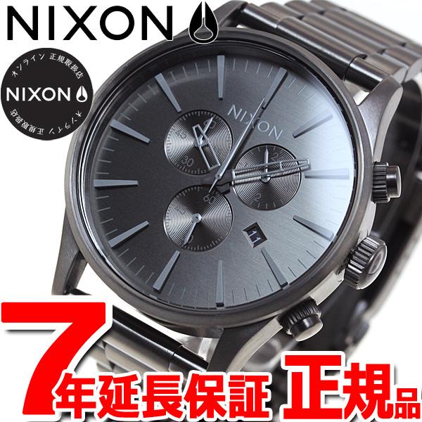 ニクソン NIXON セントリー クロノ SENTRY CHORNO 腕時計 メンズ クロノグラフ オールガンメタル/グレイ NA3862090-00