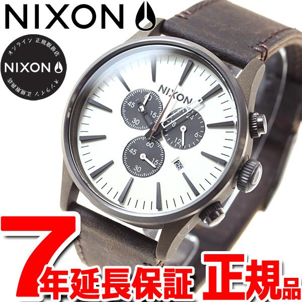 ニクソン NIXON セントリー クロノレザー SENTRY CHORNO LEATHER 腕時計 メンズ クロノグラフ ブロンズ/ガンメタル NA4052091-00