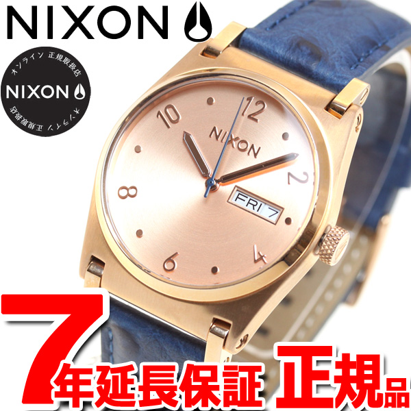 ニクソン NIXON ジェーン レザー JANE LEATHER 腕時計 レディース ローズゴールド/ブルー NA9552704-00