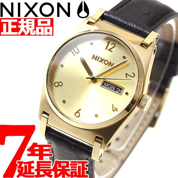 ニクソン NIXON ジェーン レザー JANE LEATHER 腕時計 レディース ゴールド/ゴールド/ブラック NA9552705-00