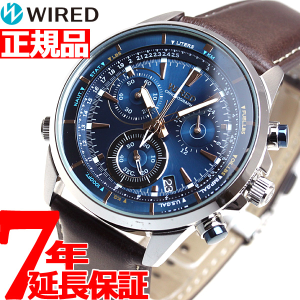 セイコー ワイアード SEIKO WIRED 腕時計 メンズ ザ・ブルー THE BLUE クロノグラフ AGAW447