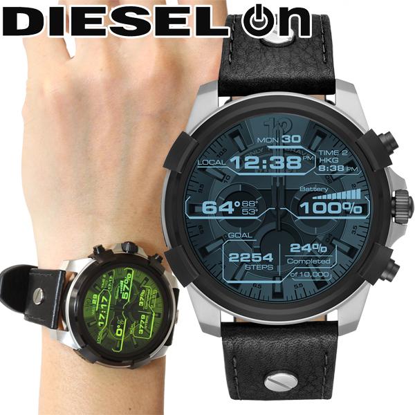 本日ポイント最大24倍!11日1時59分まで! ディーゼル DIESEL ON スマートウォッチ ウェアラブル 腕時計 メンズ フルガード FULL GUARD DZT2001