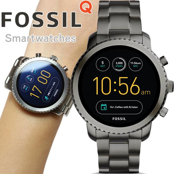 本日ポイント最大24倍!11日1時59分まで! フォッシル FOSSIL Q スマートウォッチ ウェアラブル 腕時計 メンズ エクスプローリスト Q EXPLORIS FTW4001