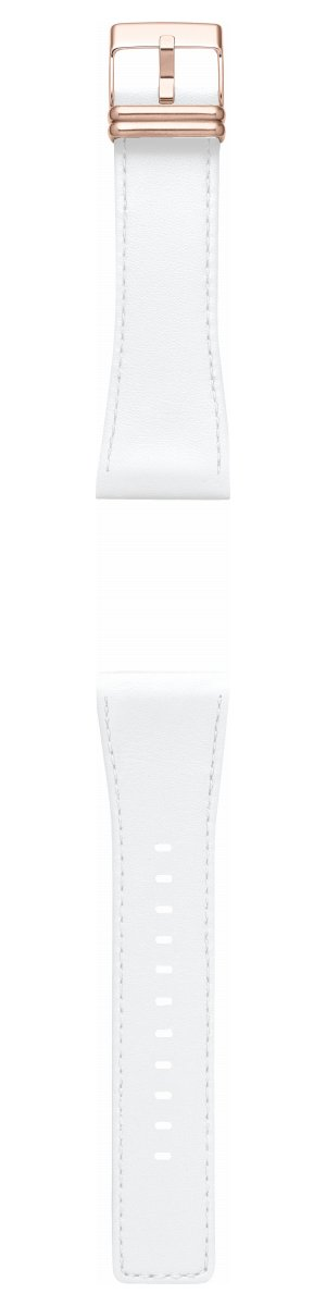 【SHOP OF THE YEAR 2018 受賞】エプソン スマートキャンバス EPSON smart canvas スムースレザー・ホワイト ステッチ入り 金具ピンクゴールド 替えバンド メンズ レディース W1BZZ50030