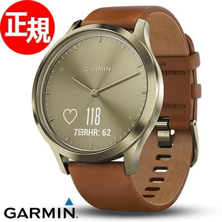 ガーミン GARMIN ヴィヴォムーブ vivomove HR Premium Gold スマートウォッチ ウェアラブル端末 腕時計 メンズ レディース 010-01850-75