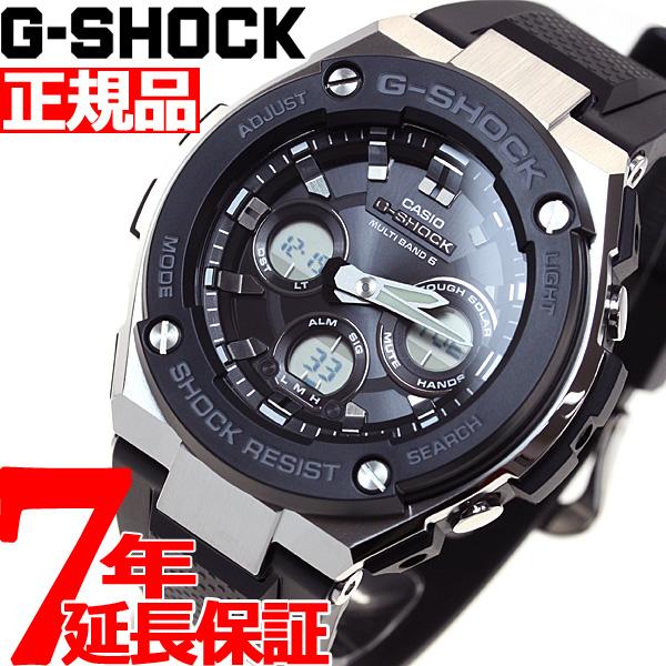 ニールならポイント最大35倍!30日23時59分まで!G-SHOCK 電波 ソーラー 電波時計 G-STEEL カシオ Gショック Gスチール CASIO 腕時計 メンズ タフソーラー GST-W300-1AJF