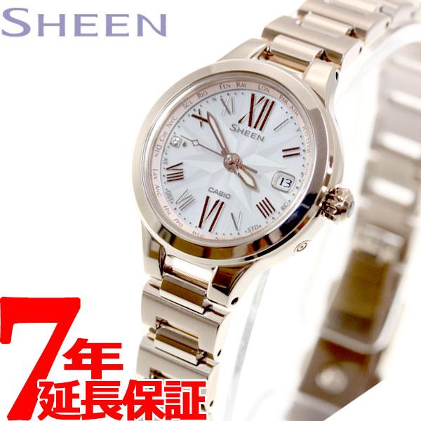 カシオ シーン CASIO SHEEN Voyage Series 電波 ソーラー 電波時計 腕時計 レディース SHW-1750CG-4AJF