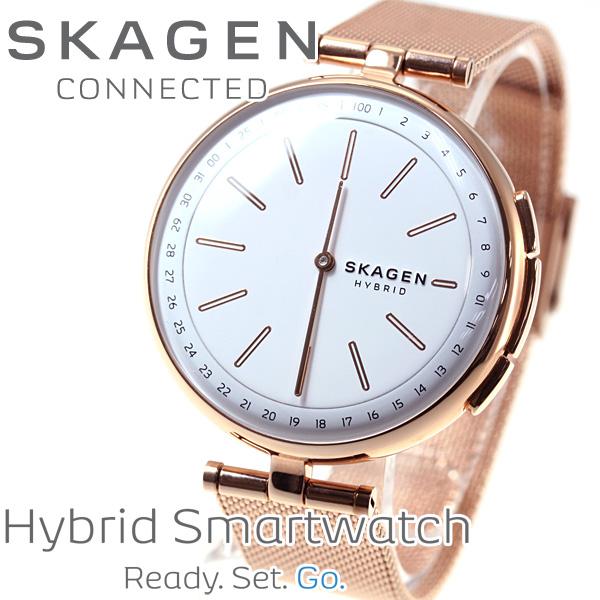 スカーゲン SKAGEN ハイブリッド スマートウォッチ ウェアラブル 腕時計 レディース シグネチャー SIGNATUR SKT1404