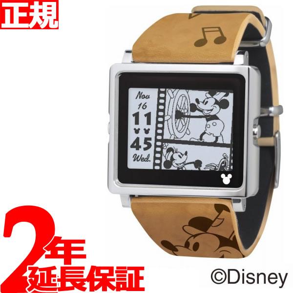 エプソン スマートキャンバス EPSON smart canvas Mickey Mouse ヴィンテージシリーズ ブラウン 腕時計 メンズ レディース W1-DY10110