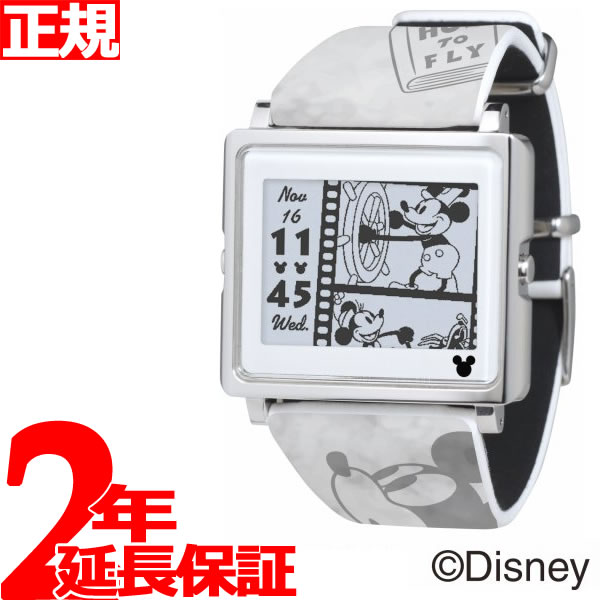 EPSON smart canvas Mickey Mouse ヴィンテージシリーズ グレー 腕時計 メンズ レディース W1-DY10120