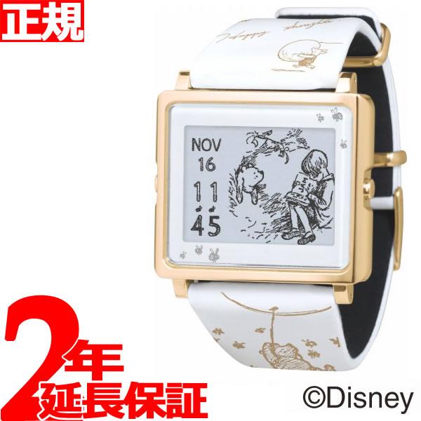エプソン スマートキャンバス EPSON smart canvas Classic Pooh ホワイト 腕時計 メンズ レディース W1-DY10220