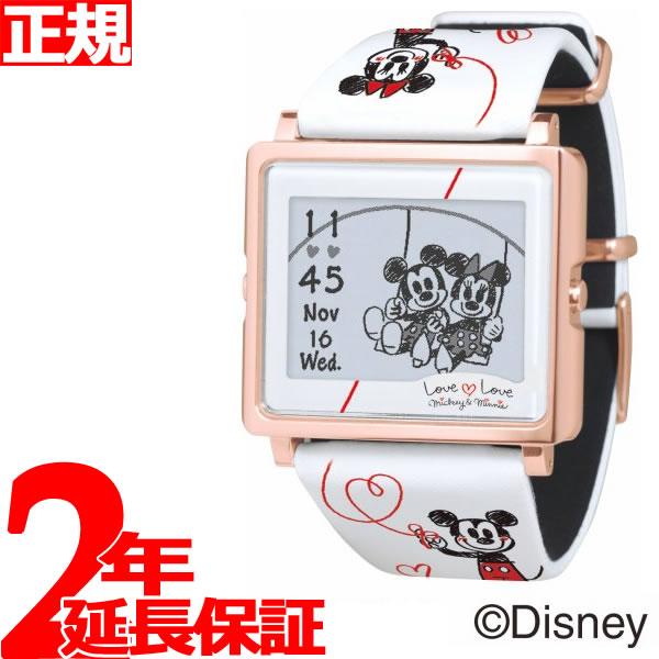 エプソン スマートキャンバス EPSON smart canvas Mickey & Minnie ラブラブシリーズ ホワイト 腕時計 メンズ レディース W1-DY10320