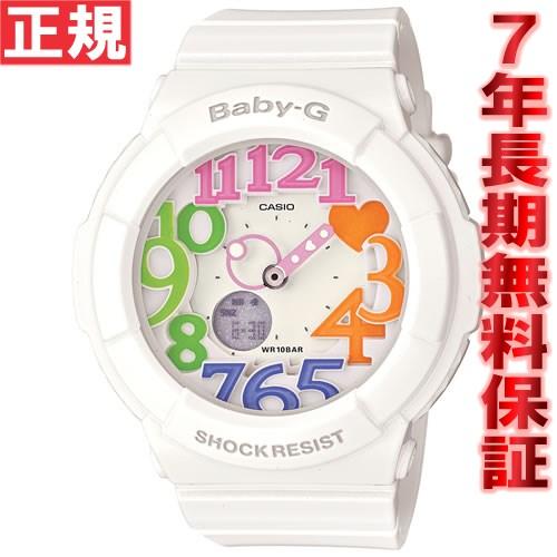 BABY-G カシオ ベビーG ネオンダイアル 腕時計 レディース ホワイト 白 アナデジ BGA-131-7B3JF