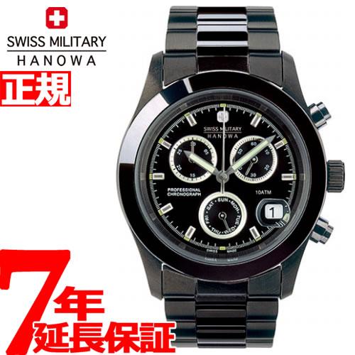 184903539db6c スイスミリタリー 腕時計 SWISS MILITARY PVD BLACK BIG CHRONO ML247-メンズ腕時計