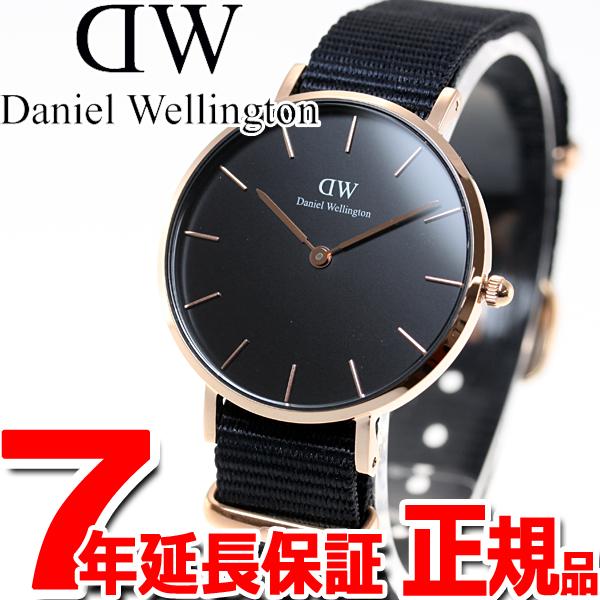 ダニエルウェリントン DANIEL WELLINGTON 腕時計 レディース クラッシック ペティット コーンウォール ブラック ローズゴールド 28mm DW00100247