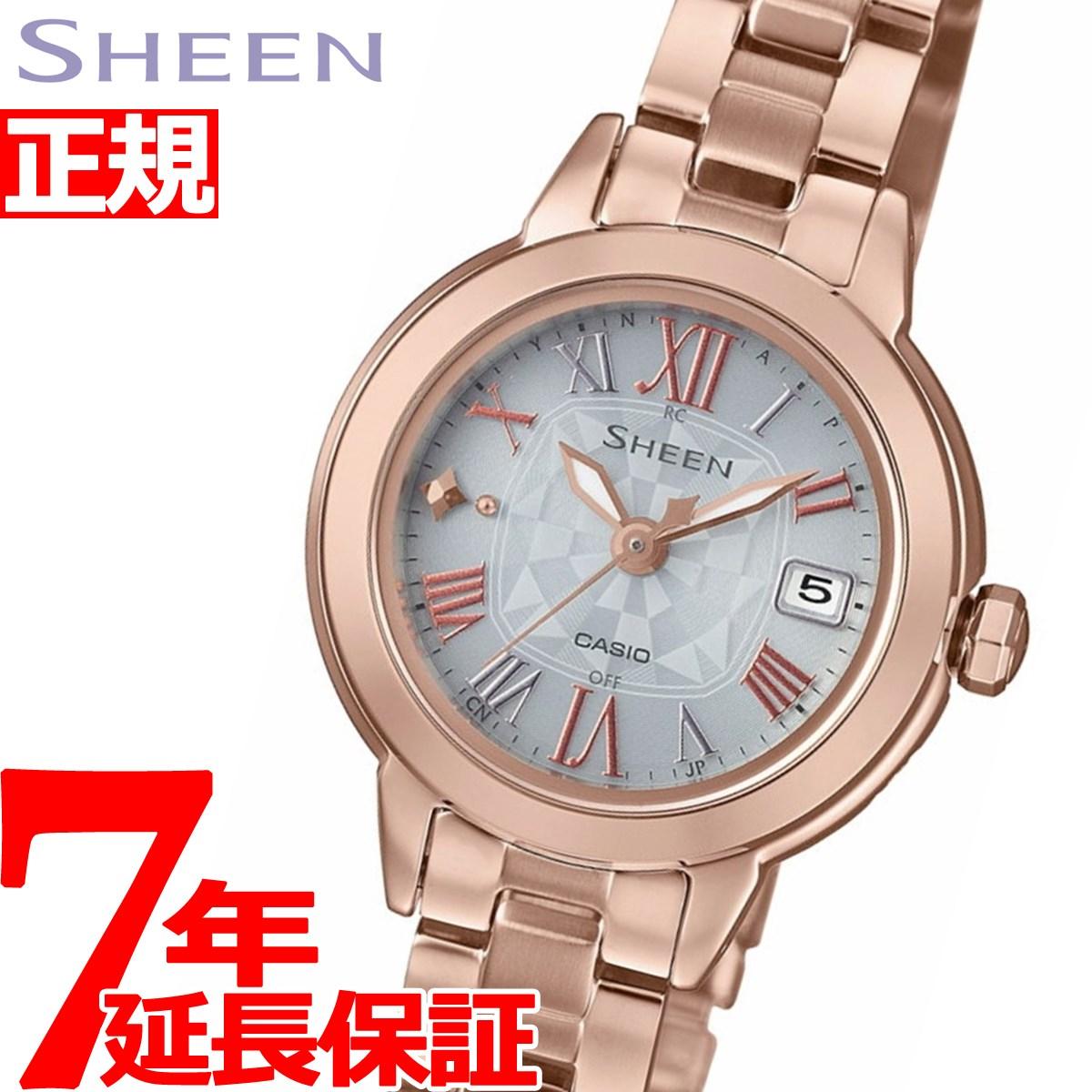 a1caa709fd カシオシーンCASIOSHEEN電波ソーラー電波時計腕時計レディースSHW-5000CG-7AJF【2018