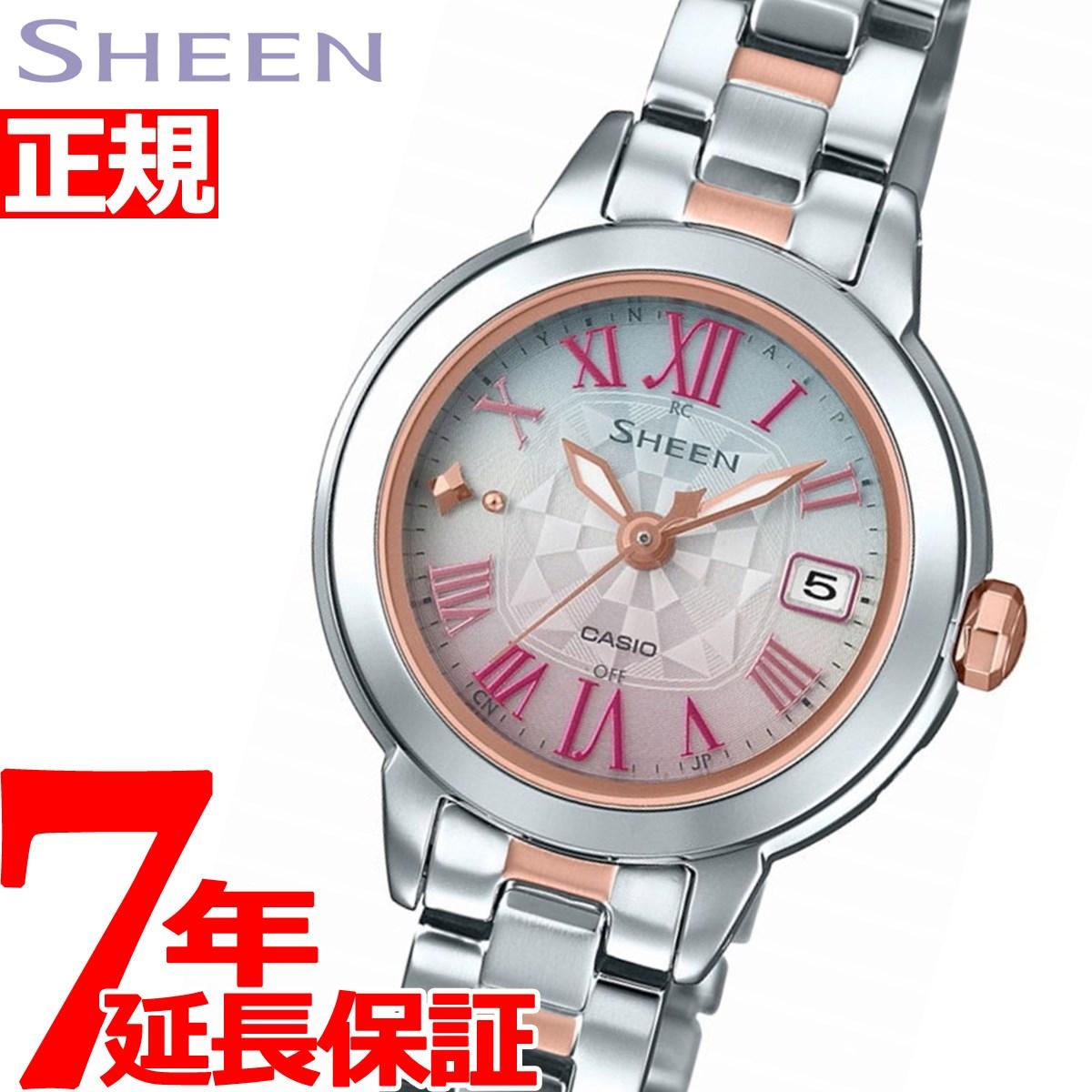 カシオ シーン CASIO SHEEN 電波 ソーラー 電波時計 腕時計 レディース SHW-5000DSG-4AJF【2018 新作】
