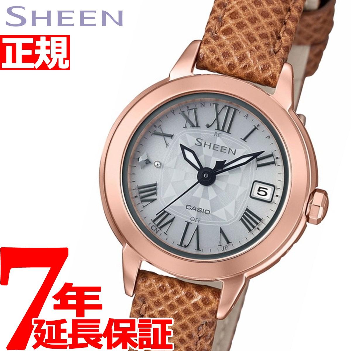 カシオ シーン CASIO SHEEN 電波 ソーラー 電波時計 腕時計 レディース SHW-5000PGL-7AJF【2018 新作】