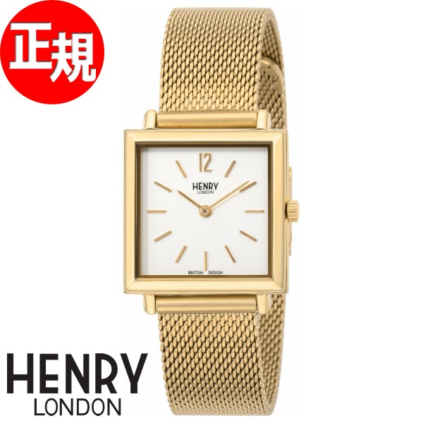 ヘンリーロンドン HENRY LONDON 腕時計 レディース ヘリテージ スクエア HERITAGE SQUARE HL26-QM-0266【2018 新作】