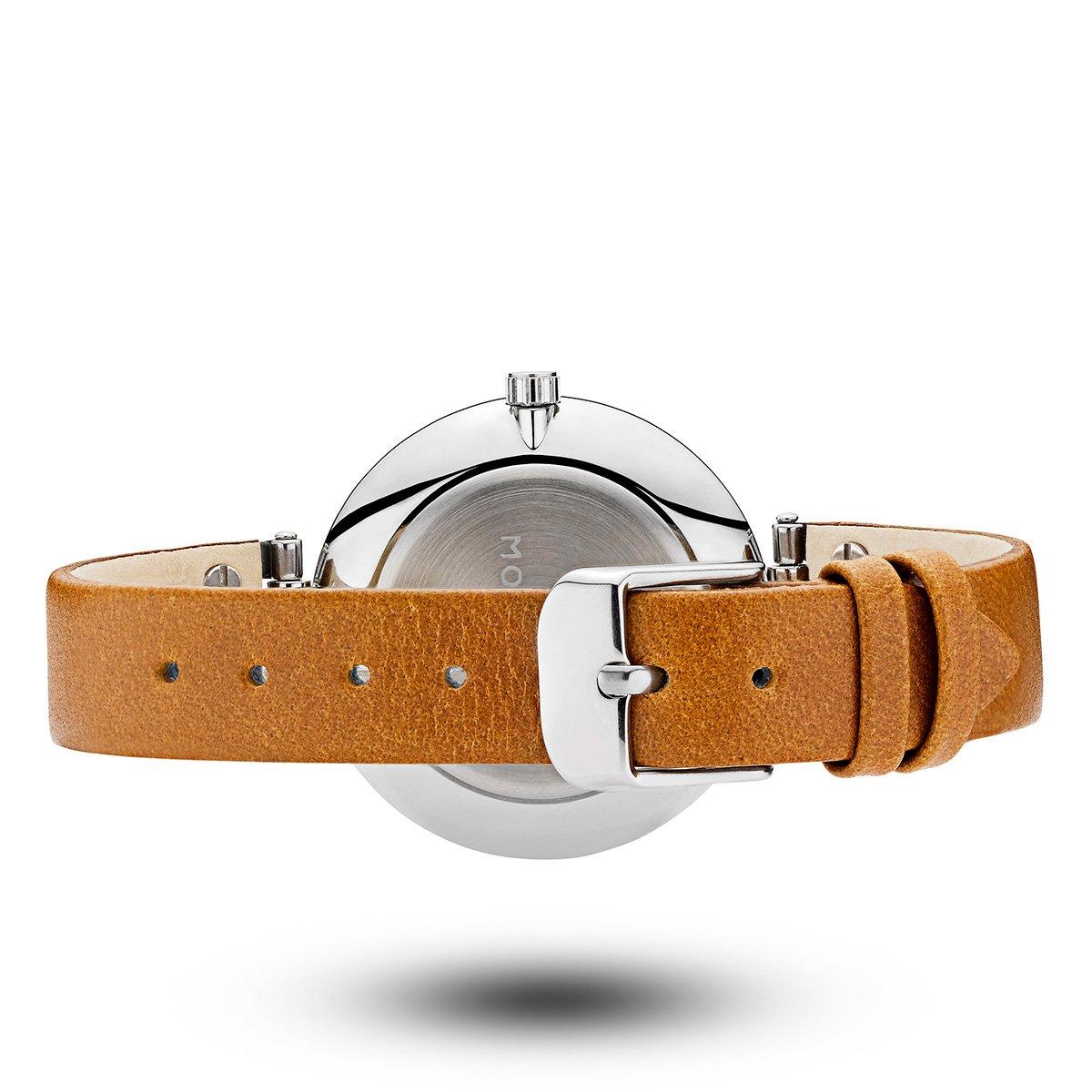 モックバーグ 時計 レディース MOCKBERG Wera Black 腕時計 34mm ブラック ブラウンレザー MO112