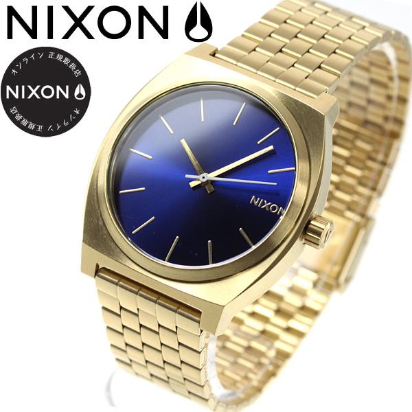 10%OFFクーポン!31日23:59まで! ニクソン NIXON タイムテラー TIME TELLER 腕時計 メンズ/レディース オールゴールド/ブルーサンレイ NA0452735-00