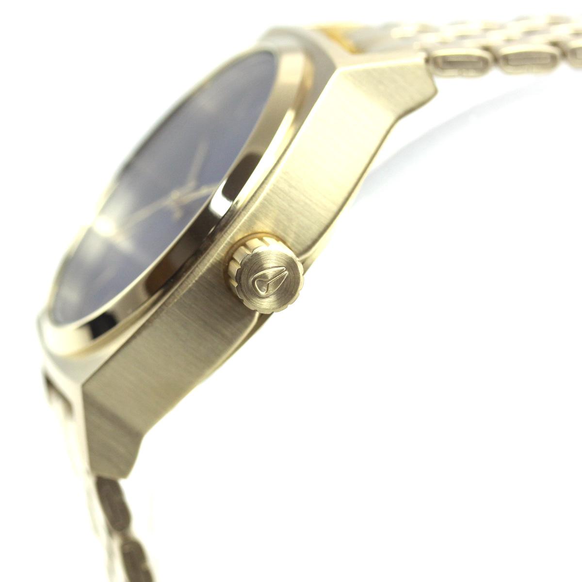 10%OFFクーポン!31日23:59まで! ニクソン NIXON ミディアム タイムテラー MEDIUM TIME TELLER 腕時計 レディース ライトゴールド/インディゴサンレイ NA11302811-00