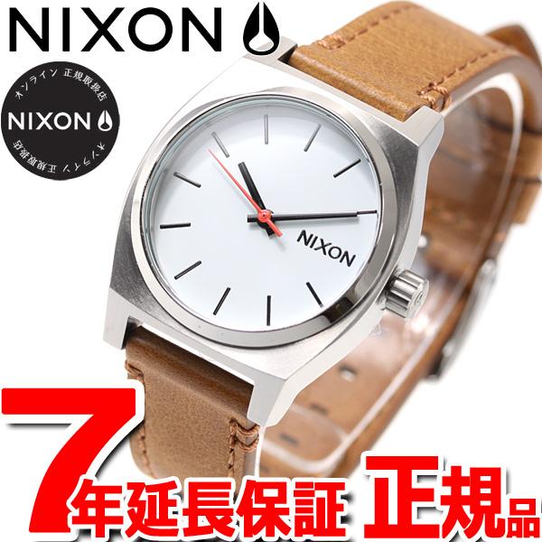 10%OFFクーポン!31日23:59まで! ニクソン NIXON ミディアム タイムテラー レザー MEDIUM TIME TELLER LEATHER 腕時計 レディース ホワイト/サドル NA11722312-00