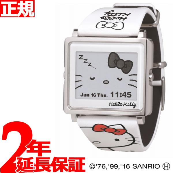 EPSON smart canvas Hello Kitty シンプルホワイト 腕時計 メンズ レディース W1-HK10110