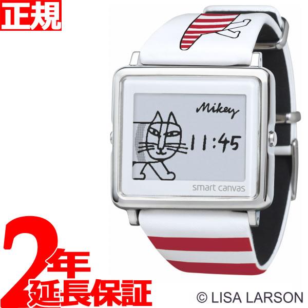 エプソン スマートキャンバス EPSON smart canvas Lisa Larson Mikey レッド 腕時計 メンズ レディース W1-LL10120