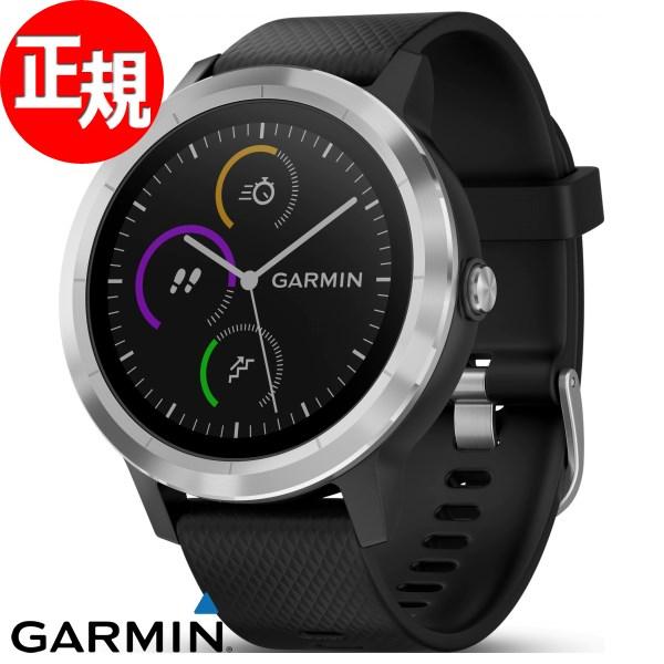 ガーミン GARMIN vivoactive3 ヴィヴォアクティブ GPS内蔵 スマートウォッチ ウェアラブル端末 腕時計 メンズ レディース Black Stainless 010-01769-70【2018 新作】