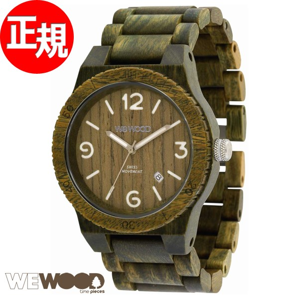 WEWOOD ウィーウッド 腕時計 メンズ 木製 ALPHA SW ARMY 9818182【2018 新作】
