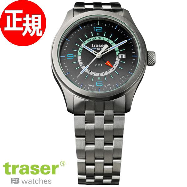 トレーサー traser 腕時計 メンズ H3 Aurora GMT グレーブラック 9031575【2018 新作】