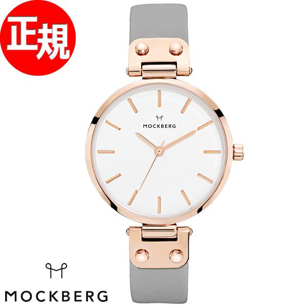 モックバーグ MOCKBERG 腕時計 レディース Alicia 34mm ホワイト/グレー MO118【2018 新作】
