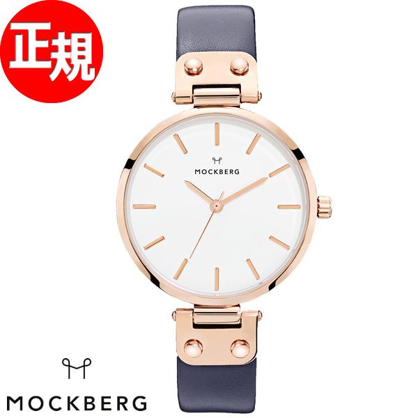 モックバーグ MOCKBERG 腕時計 レディース Sophie 34mm ホワイト/ネイビーブルー MO119【2018 新作】
