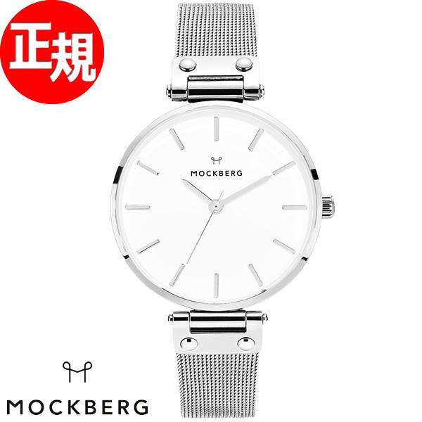 モックバーグ MOCKBERG 腕時計 レディース Elise 38mm ホワイト/シルバーメッシュ MO502【2018 新作】