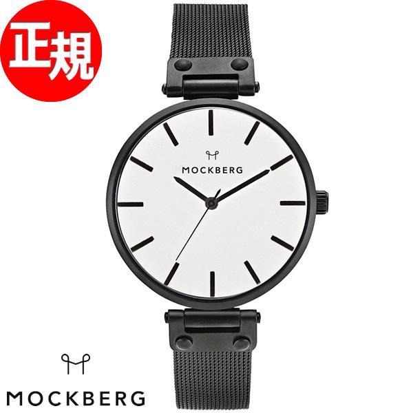 モックバーグ MOCKBERG 腕時計 レディース Ines 38mm ホワイト/ブラックメッシュ MO506【2018 新作】