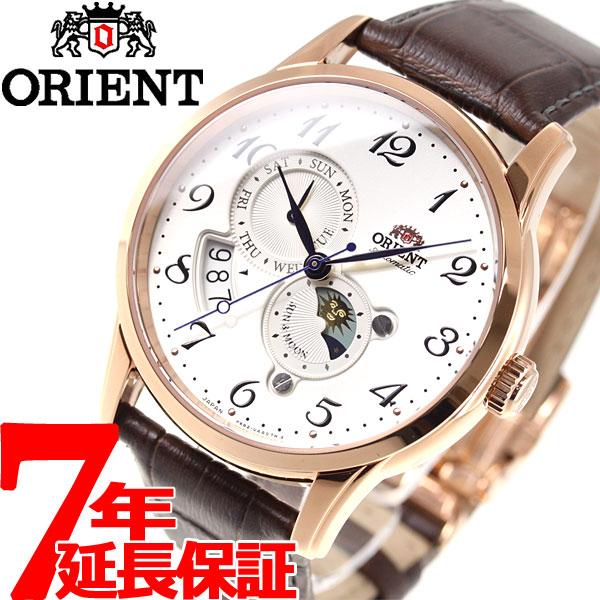 【お買い物マラソンは当店がお得♪本日20より!】オリエント 腕時計 メンズ 自動巻き 機械式 流通限定モデル ORIENT クラシック CLASSIC サン&ムーン RA-AK0001S【2018 新作】