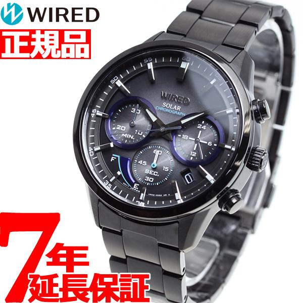 セイコー ワイアード SEIKO WIRED ソーラー Black Edition 限定モデル 腕時計 メンズ クロノグラフ TOKYO SORA AGAD731【2018 新作】