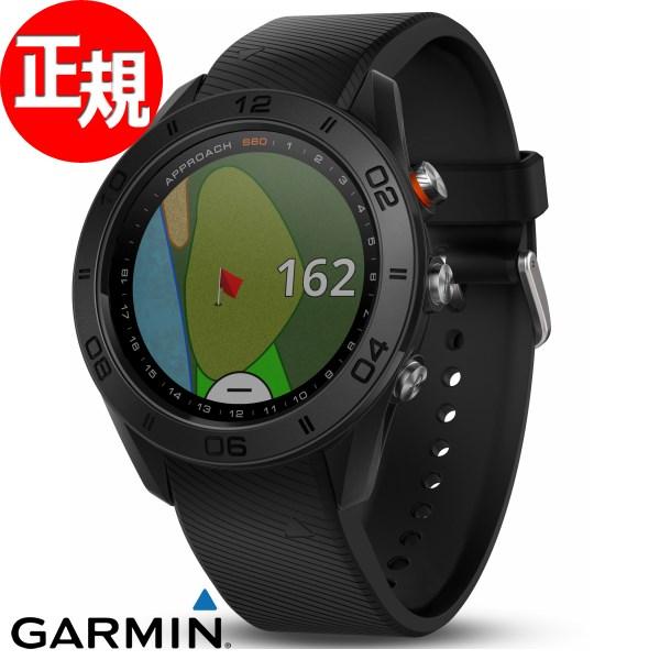 ガーミン GARMIN GPS内蔵 ゴルフナビ Approach S60 Black スマートウォッチ ウェアラブル端末 腕時計 メンズ レディース アプローチ S60 ブラック 010-01702-20【2018 新作】