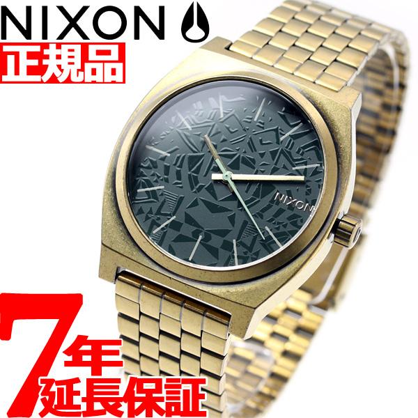 ニクソン NIXON タイムテラー TIME TELLER 腕時計 メンズ レディース PALM GREEN/BRASS NA0452851-00【2018 新作】