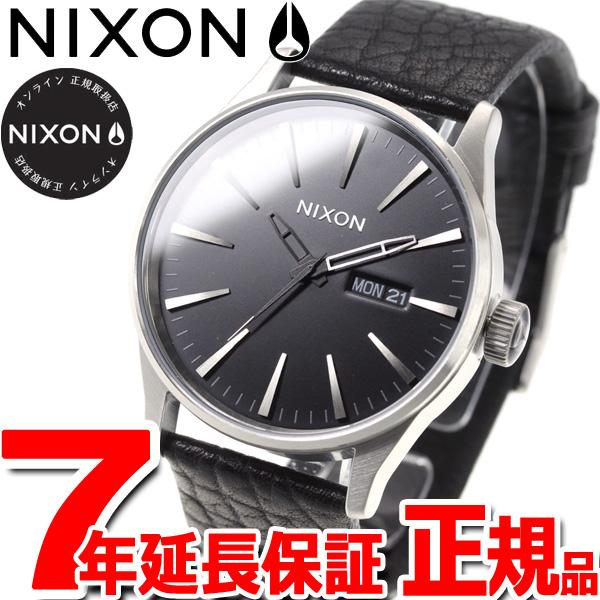 ニクソン NIXON セントリー レザー SENTRY LEATHER 腕時計 メンズ ブラック/ガンメタル/ブラック NA1052788-00