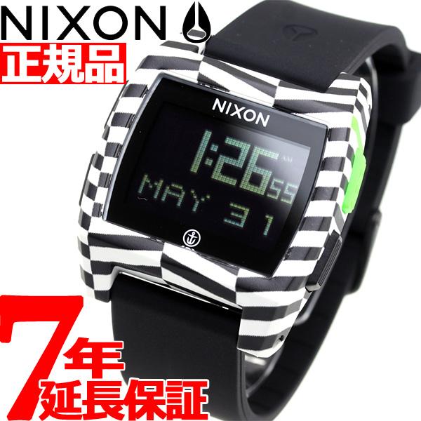 ニクソン NIXON ベースタイド BASE TIDE 腕時計 メンズ レディース BLACK/CAPTAIN FIN NA11042954-00【2018 新作】