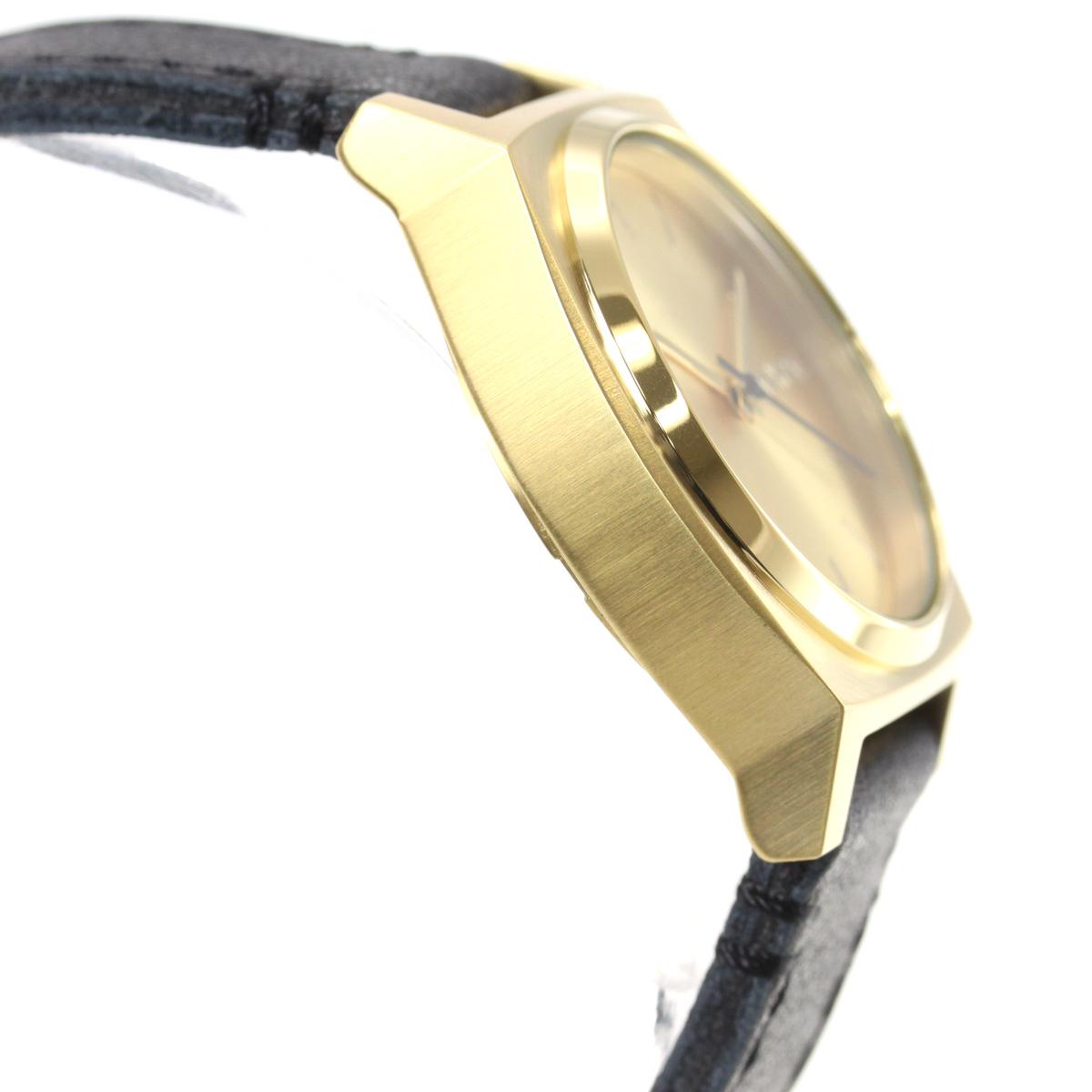 10%OFFクーポン!31日23:59まで! ニクソン NIXON ミディアム タイムテラー レザー MEDIUM TIME TELLER LEATHER 腕時計 レディース ゴールド/ブラック NA1172513-00