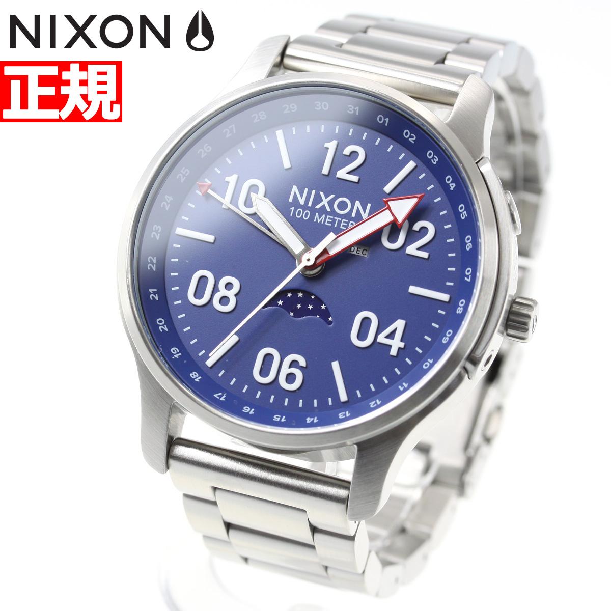 ニクソン NIXON アセンダー ASCENDER 腕時計 メンズ SILVER/BLUE NA1208722-00【2018 新作】